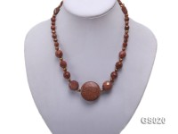 Goldstone and Freshwater Pearl Necklace