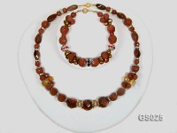 Goldstone Necklace and Bracelet Set