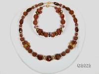 Goldstone Necklace and Bracelet Set