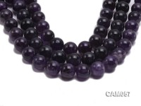Wholesale 20mm Round Translucent Natural Amethyst Beads String