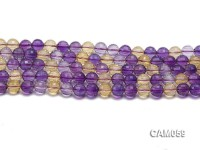 Wholesale 10.5mm Round Translucent Faceted Ametrine Beads String
