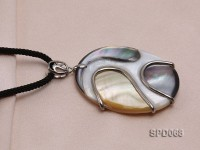 50mm Oval Abalone Shell Pendant