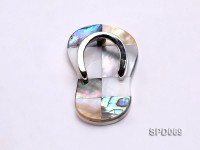 55x32mm Slipper-shaped Abalone Shell Pendant