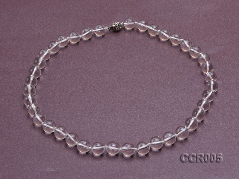 10.5mm Round Rock Crystal Beads Necklace