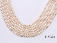Wholesale 8.5x10mm Classic White Flat Cultured Freshwater Pearl String