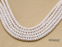 Wholesale 9-10.5mm White Flat Freshwater Pearl String