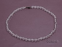 8.5mm Round Rock Crystal Beads Necklace