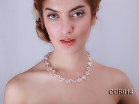 18x18mm Heart-shaped Rock Crystals Necklace