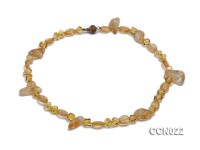 5.5mm and 8×12 mm Irregular Citrine Necklace