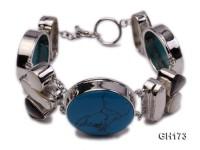 25-30mm blue turquoise bracelet