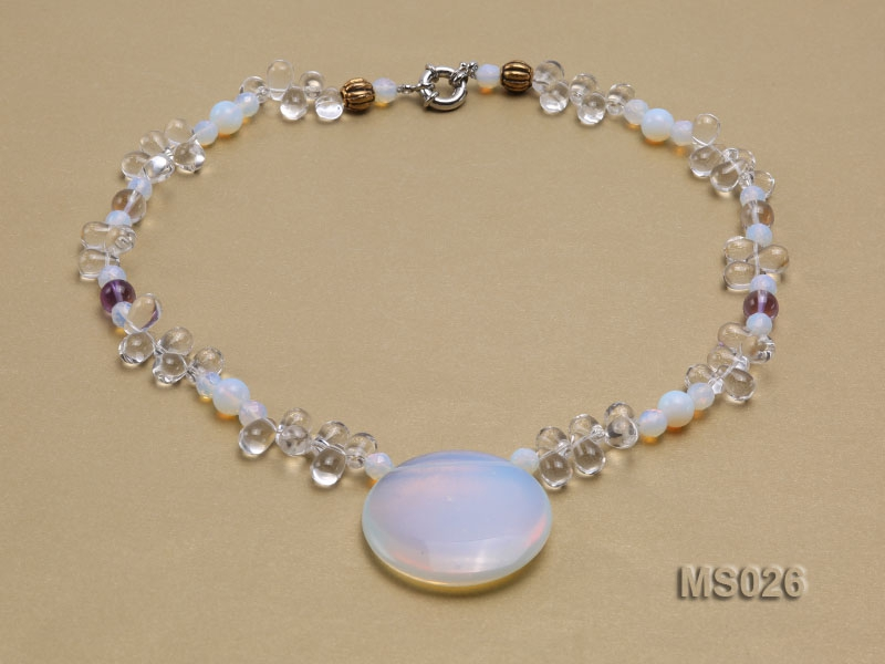 Moonstone and Crystal Beads Necklace