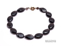 13x20mm Oval Faceted Smoky Quartz Necklace
