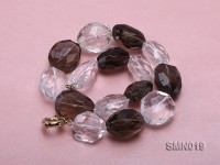 20x30mm Smoky Quartz and Rock Crystal Necklace