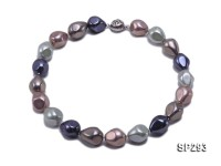 16×19.5mm colorful oval the south seashell pearl necklace