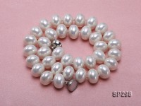 10.5x14mm white flatly round the south seashell pearl necklace