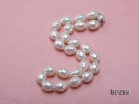 12x16mm white oval the south seashell pearl necklace