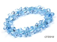 7mm Round and Irregular Natural Blue Crystal Elastic Bracelet