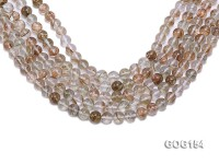 Wholesale 10mm Round Imitation Rutilated Quartz String