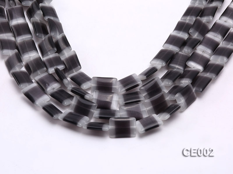 Wholesale 13x18mm Grey Rectangular Cat's Eye String