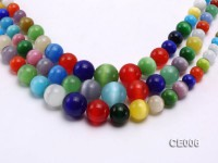 Wholesale 8-18mm Round Colorful Cat's Eye String