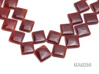 wholesale 22x22mm red square agate piece strings