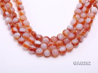 wholesale 14mm faceted red round agate strings