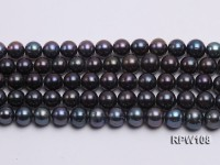 Wholesale AA-grade 13mm Black Round Freshwater Pearl String