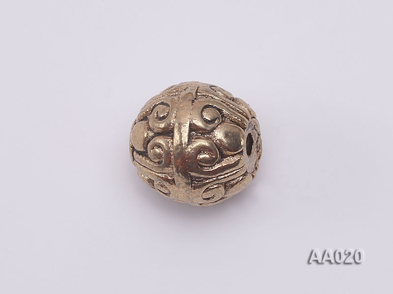 Stylish 8mm Carved Copper Plated Tutania Accessories