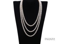 8mm natural white round freshwater pearl necklace