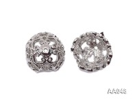 Argent Flower-shaped Jewelry Accessories Spacer Metal Beads