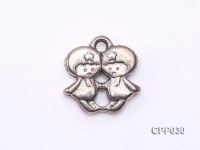 Twins-shaped Cupronickel Plated PVC Accessories