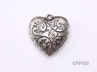Heart-shaped Cupronickel Plated PVC Accessories