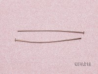 0.5x35mm T-shaped Silver Plated Copper Needles