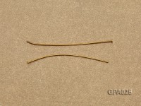 0.7x40mm T-shaped Gold Plated Copper Needles