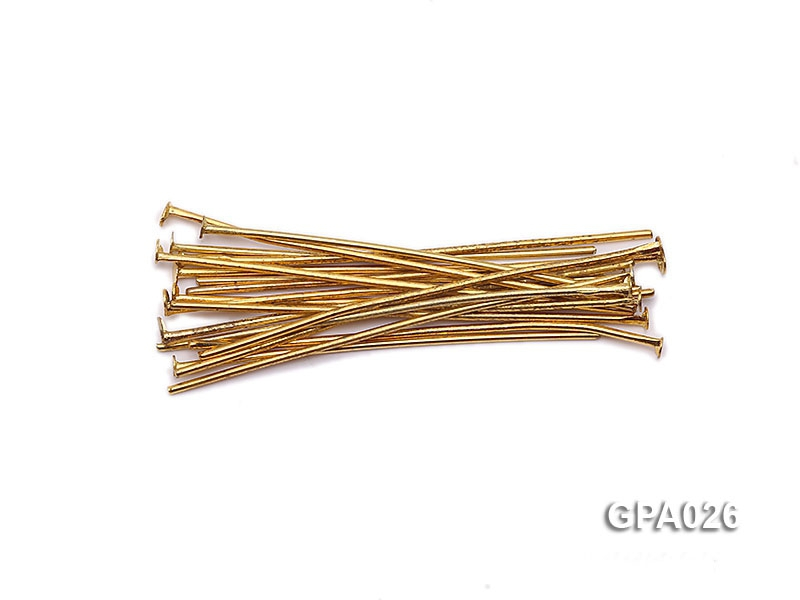 1x40mm T-shaped Gold Plated Copper Needles
