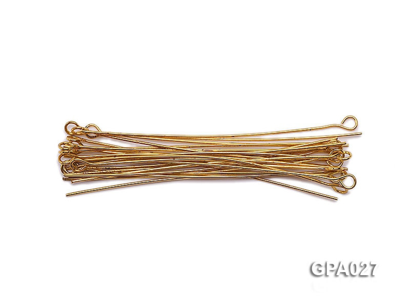 0.5x50mm 9-shaped Gold Plated Copper Needles