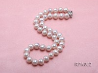 Classic Single-strand 11mm White Round Freshwater Pearl Necklace