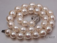 Classic 11.5-13.5mm White Oval Cultured Freshwater Pearl Necklace