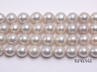 Wholesale AA-grade 13-14mm Classic White Round Freshwater Pearl String
