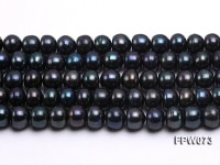 Wholesale A-grade 9×10.5mm Dark Coffee Flat Freshwater Pearl String