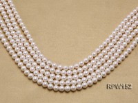 Wholesale 7.5-8.5mm Classic White Round Freshwater Pearl String