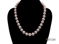 11.5-13.5 mm White Round Freshwater Pearl Necklace and Bracelet Set