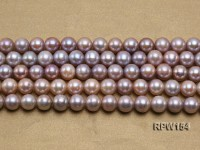 Wholesale AAA-grade 10-11mm Natural Lavender Round Freshwater Pearl String