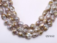 Wholesale & Retail AAA-grade 13.5-16mm Pink & Lavender Baroque Pearl String