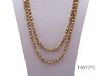 7*8mm golden rice freshwater pearl necklace