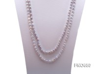 7*8mm silver rice freshwater pearl necklace