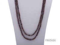7mm black round freshwater pearl necklace