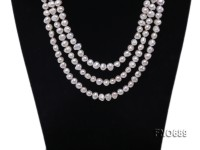8.5mm natural white flat freshwater pearl necklace