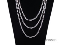 6.5mm natural white round freshwater pearl necklace