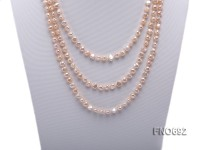 6-7mm natural pink freshwater pearl necklace